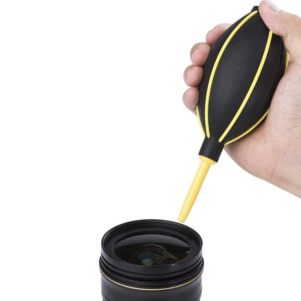 Professional blower for cleaning filters, lenses and sensors