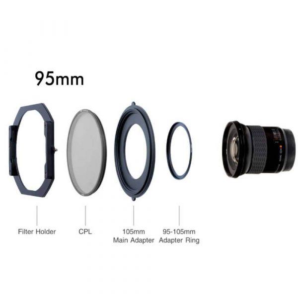 NiSi S5 Holder | Polariser PRO | 105mm / 95mm / 82mm threaded lenses