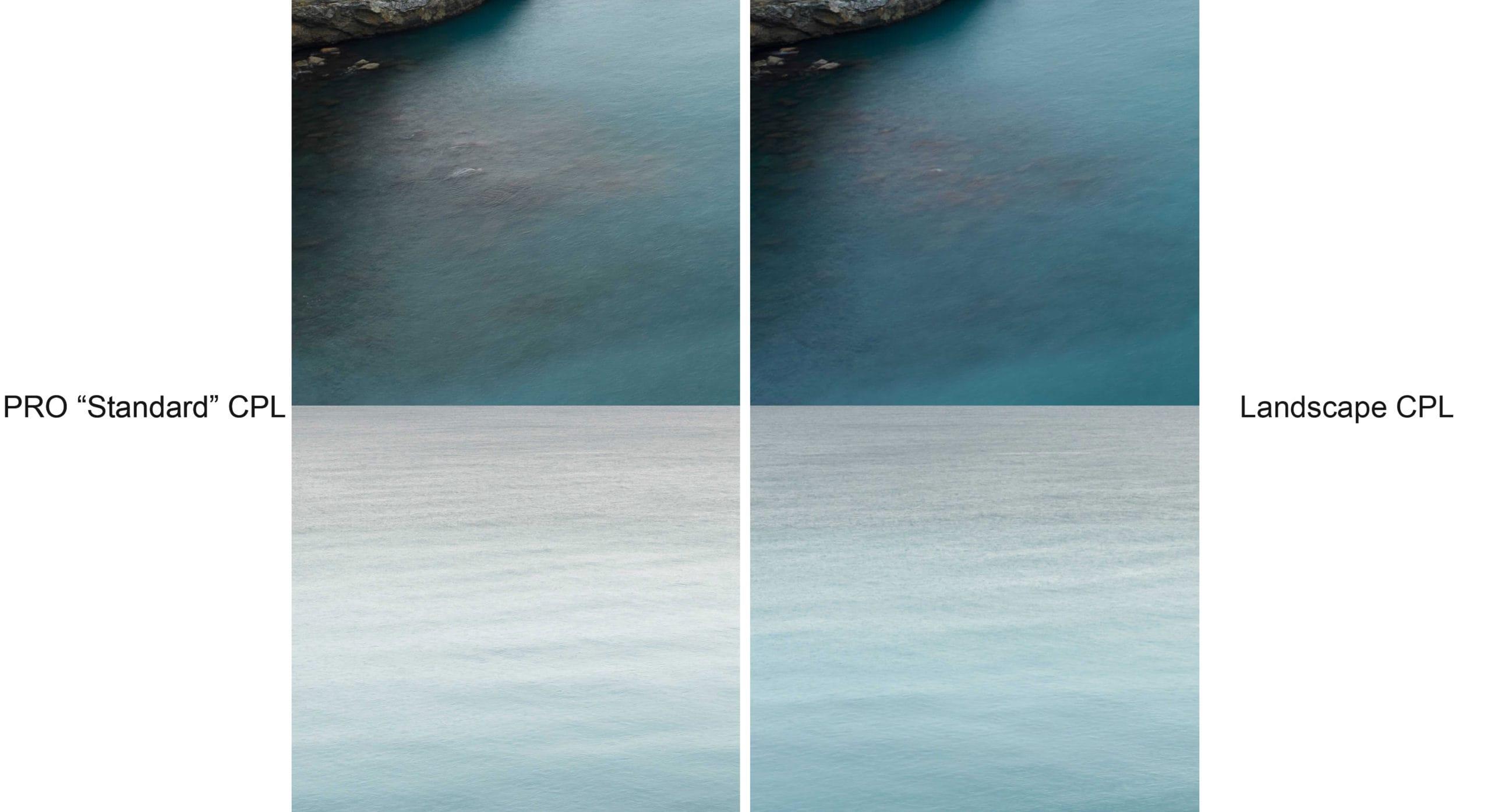 "Differences between NiSi Landscape® NC Enhanced polariser and PRO ""Standard"" Polariser"